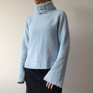 Coquine - Super Soft Chenille Baby Blue Sweater